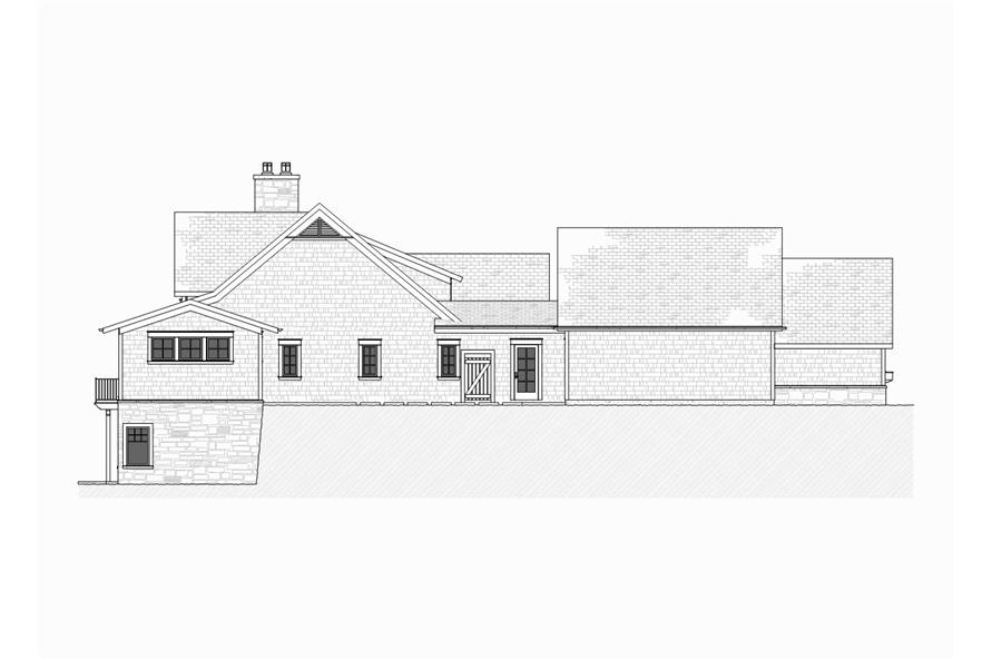 Home Plan Left Elevation of this 4-Bedroom,3999 Sq Ft Plan -168-1105
