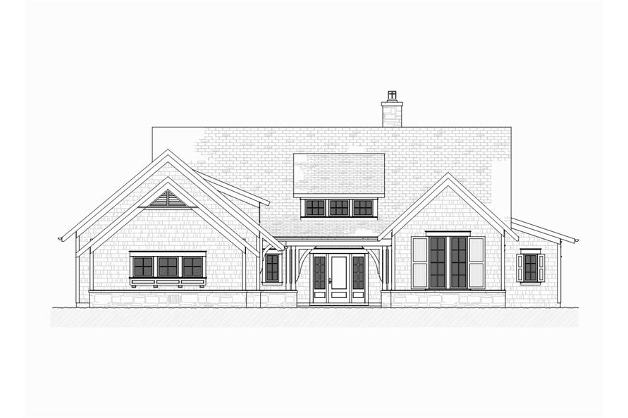 Home Plan Front Elevation of this 4-Bedroom,3999 Sq Ft Plan -168-1105