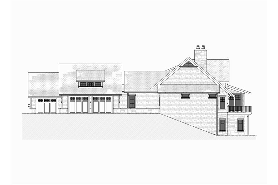 Home Plan Right Elevation of this 4-Bedroom,3999 Sq Ft Plan -168-1105
