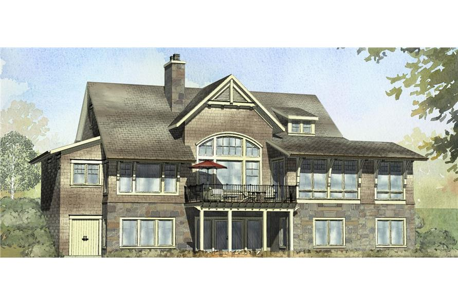 4-Bedroom, 3999 Sq Ft Traditional House Plan - 168-1105 - Front Exterior