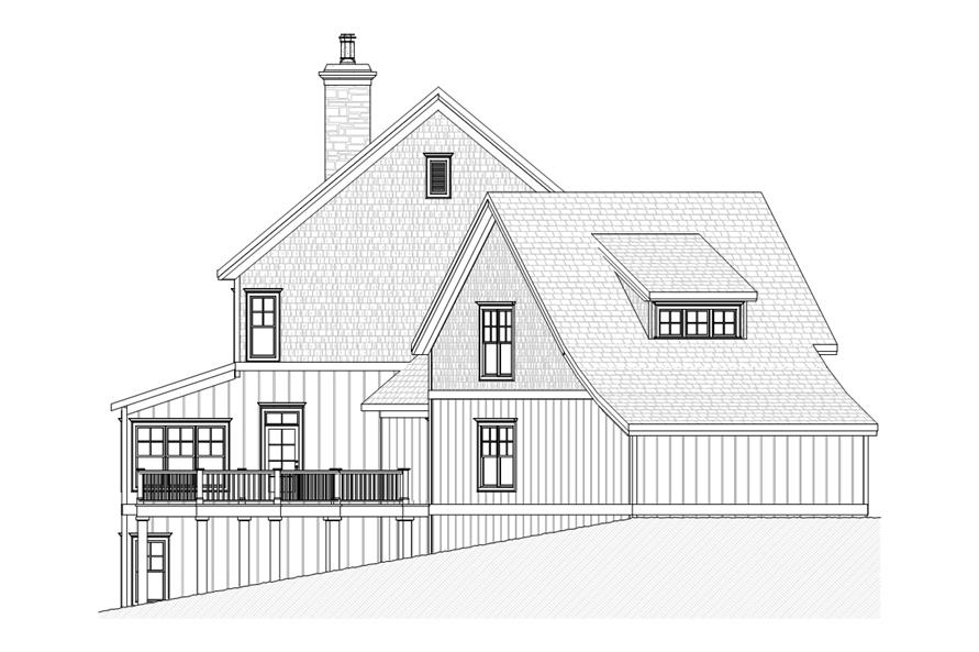 168-1106: Home Plan Left Elevation