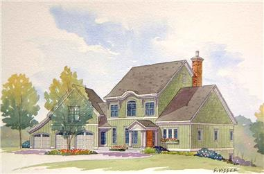 4-Bedroom, 3227 Sq Ft Traditional House Plan - 168-1106 - Front Exterior