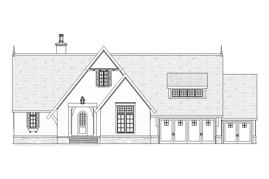 168-1107: Home Plan Front Elevation