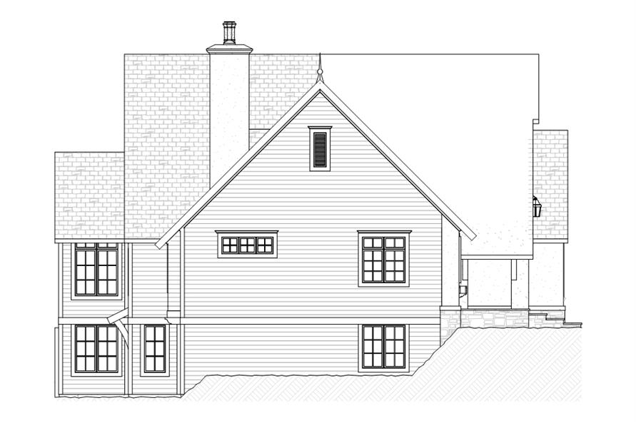 168-1107: Home Plan Left Elevation