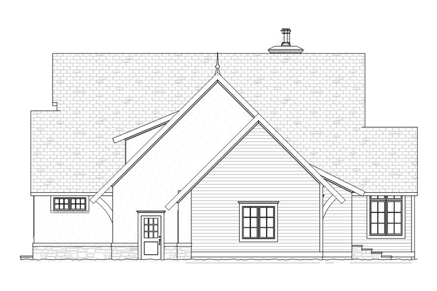 168-1107: Home Plan Right Elevation