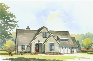 4-Bedroom, 3397 Sq Ft Traditional House Plan - 168-1107 - Front Exterior