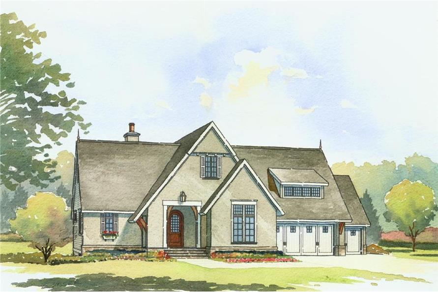 Front elevation of Traditional home (ThePlanCollection: House Plan #168-1107)