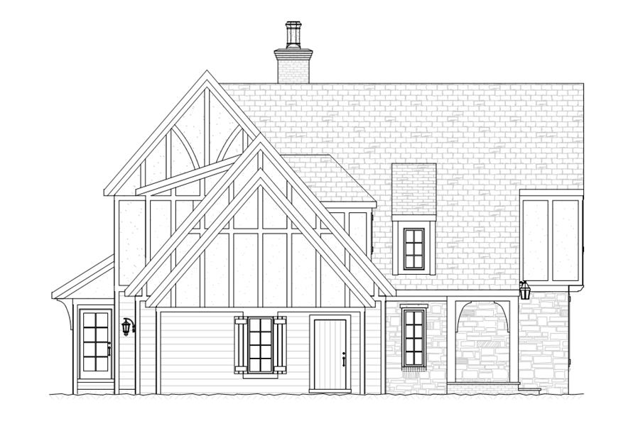168-1108: Home Plan Left Elevation