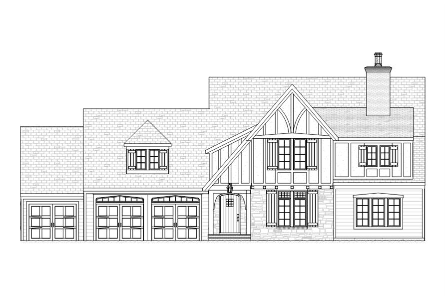 168-1108: Home Plan Front Elevation