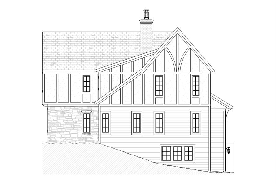 168-1108: Home Plan Right Elevation