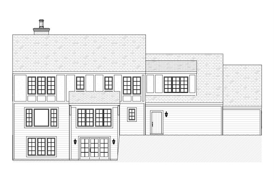168-1108: Home Plan Rear Elevation