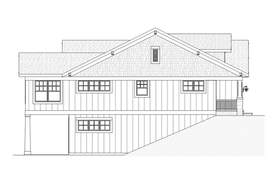168-1109: Home Plan Left Elevation