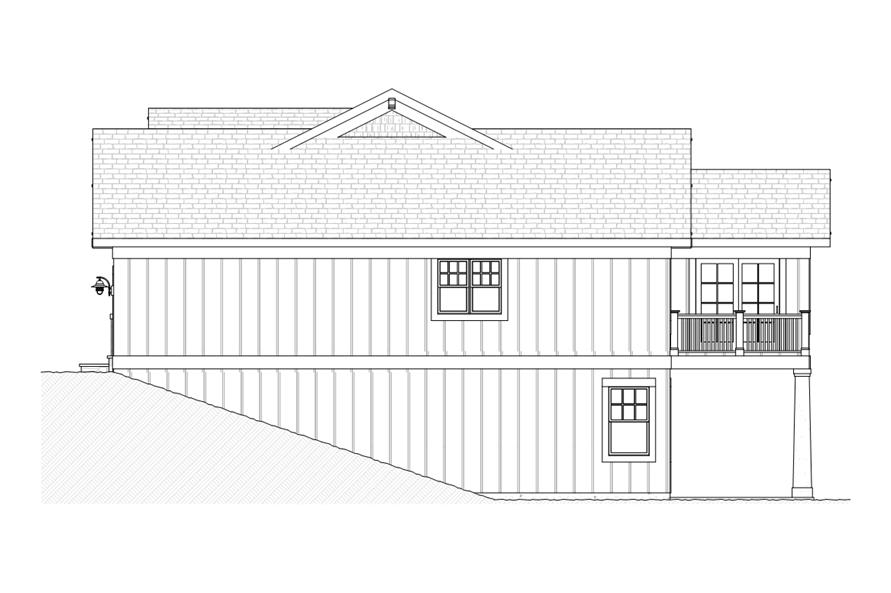 168-1109: Home Plan Right Elevation