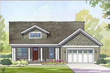 3-Bedroom, 2363 Sq Ft Traditional Home Plan - 168-1109 - Main Exterior