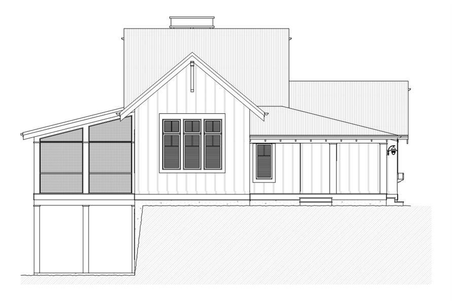 168-1110: Home Plan Left Elevation