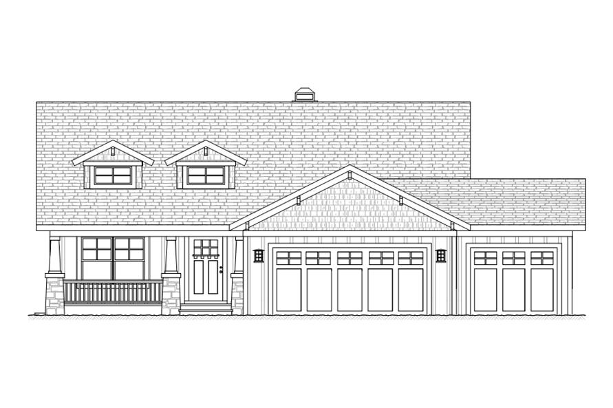 168-1111: Home Plan Front Elevation