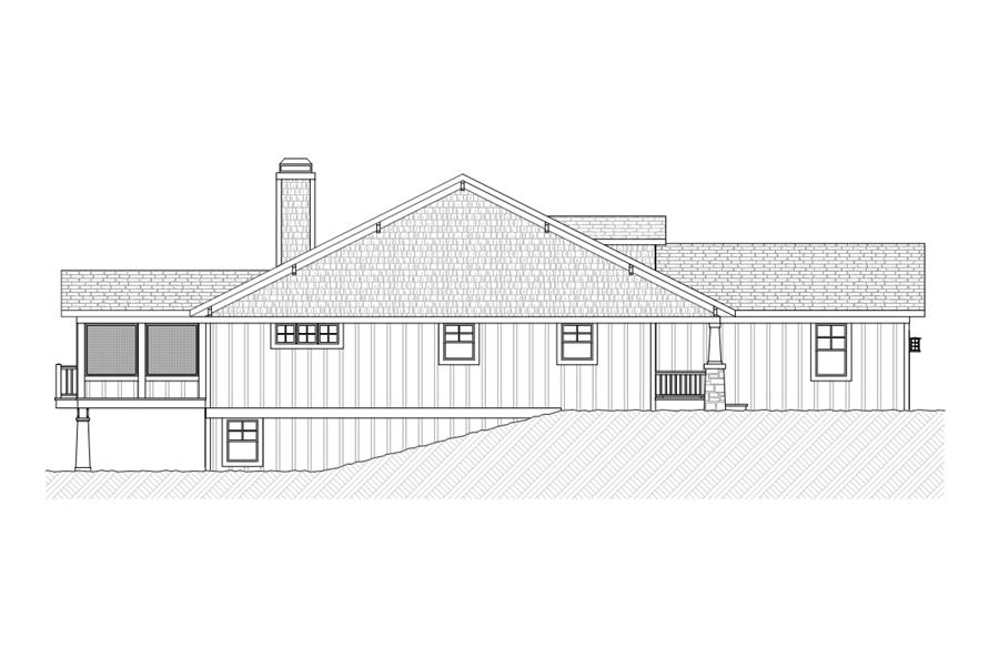 168-1111: Home Plan Left Elevation