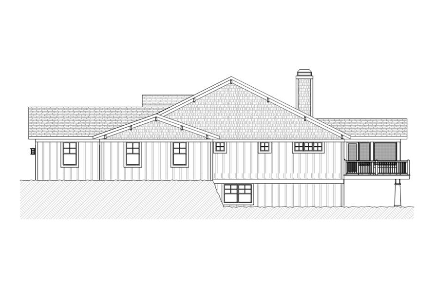 168-1111: Home Plan Right Elevation