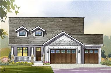 3-Bedroom, 3139 Sq Ft Traditional House Plan - 168-1111 - Front Exterior