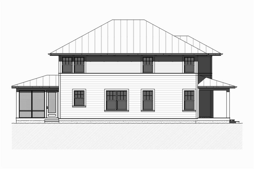 Home Plan Left Elevation of this 4-Bedroom,2401 Sq Ft Plan -168-1113