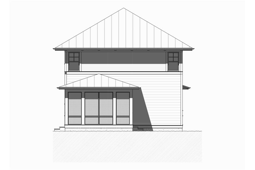 168-1113: Home Plan Rear Elevation