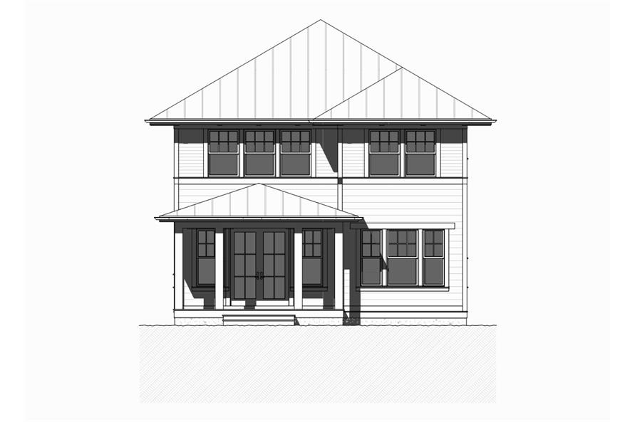 168-1113: Home Plan Front Elevation
