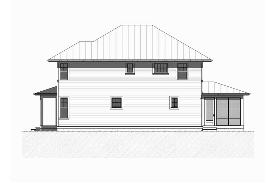 168-1113: Home Plan Right Elevation