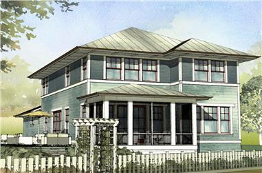 Front elevation of Traditional home (ThePlanCollection: House Plan #168-1113)