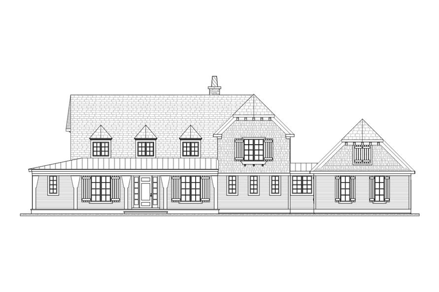 168-1114: Home Plan Front Elevation
