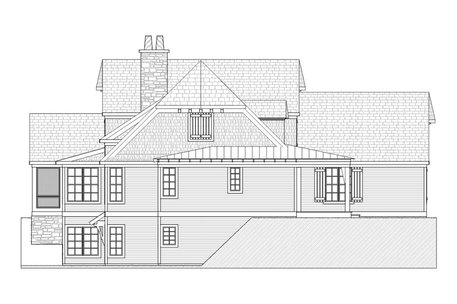 168-1114: Home Plan Left Elevation