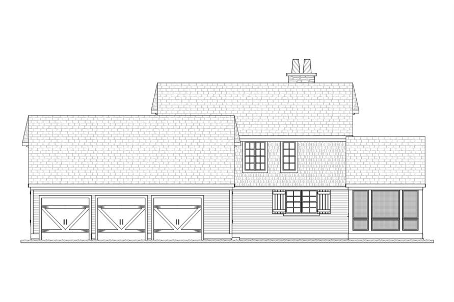 168-1114: Home Plan Right Elevation