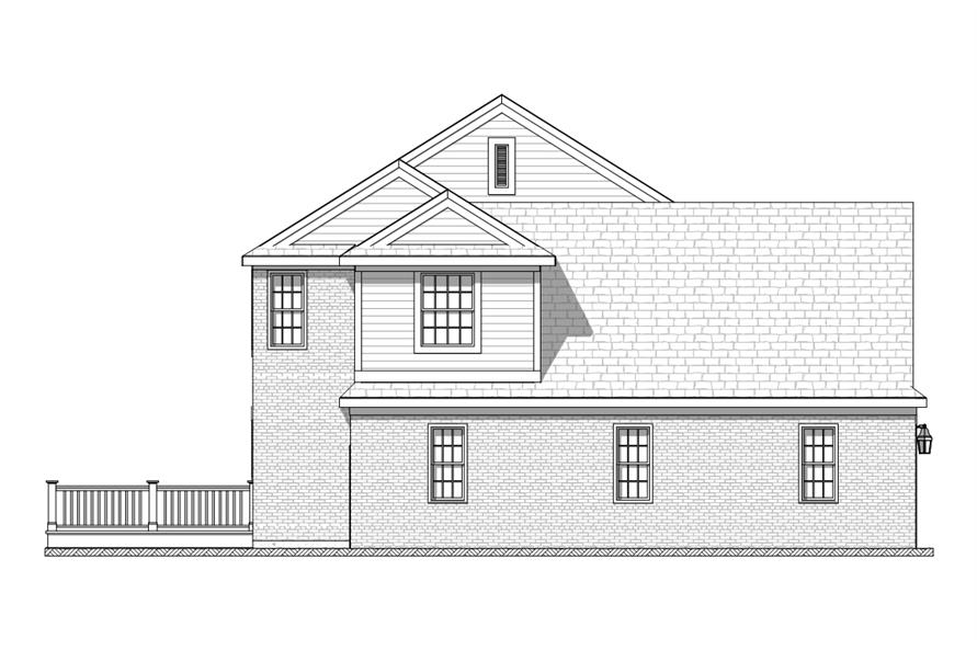 168-1115: Home Plan Left Elevation