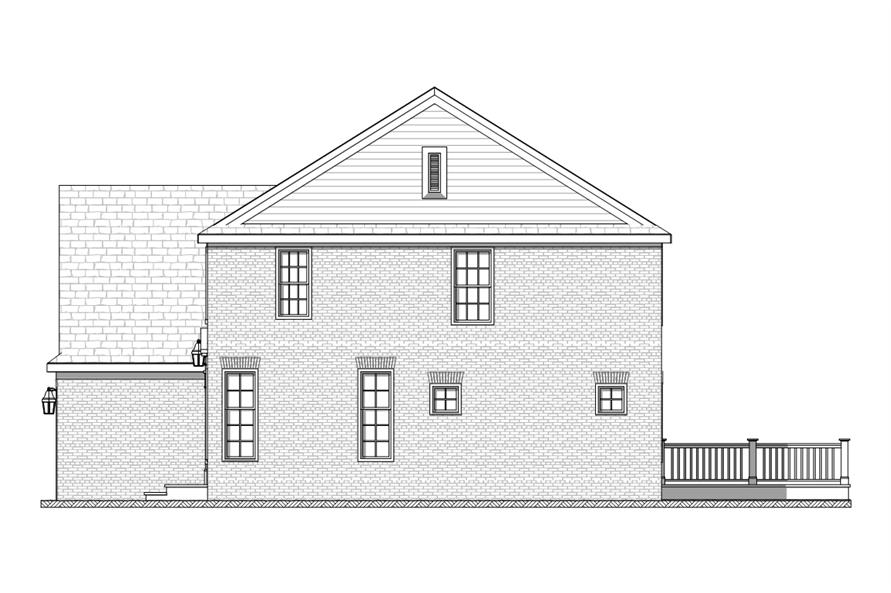 168-1115: Home Plan Right Elevation