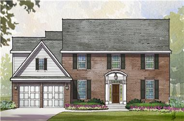 4-Bedroom, 3400 Sq Ft Traditional House Plan - 168-1115 - Front Exterior