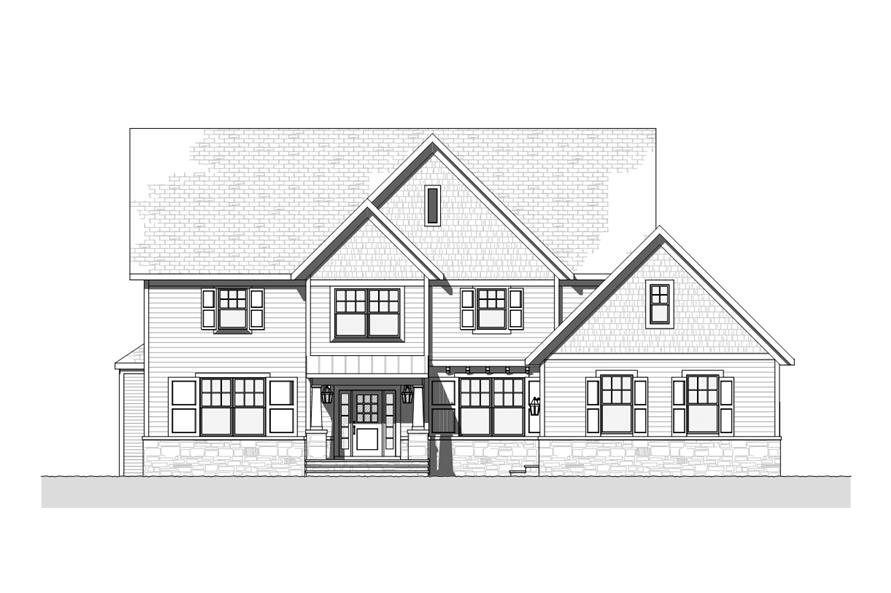 168-1116: Home Plan Front Elevation
