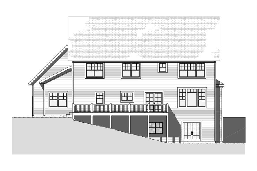 168-1116: Home Plan Rear Elevation