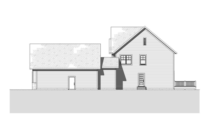 168-1116: Home Plan Right Elevation