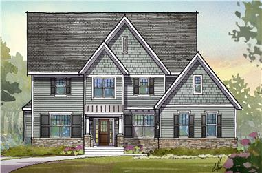 4-Bedroom, 3294 Sq Ft Traditional House Plan - 168-1116 - Front Exterior