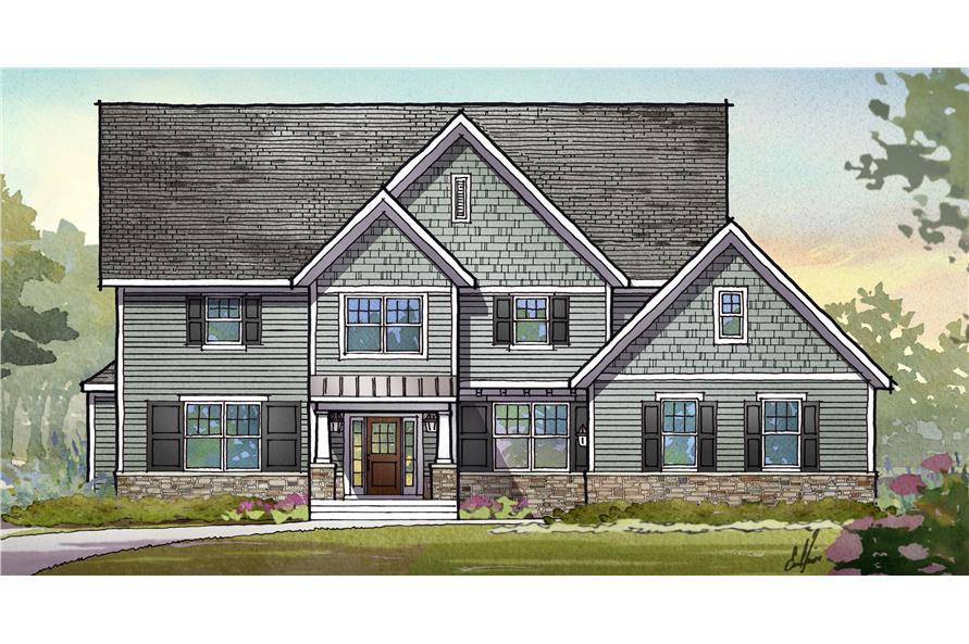 Front elevation of Traditional home (ThePlanCollection: House Plan #168-1116)