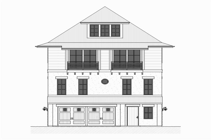 168-1117: Home Plan Front Elevation