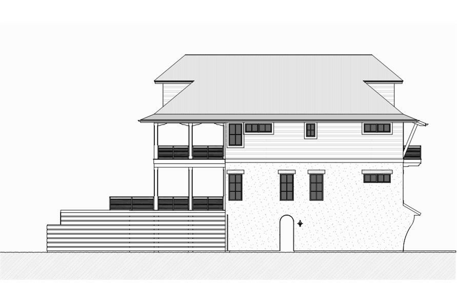 168-1117: Home Plan Left Elevation