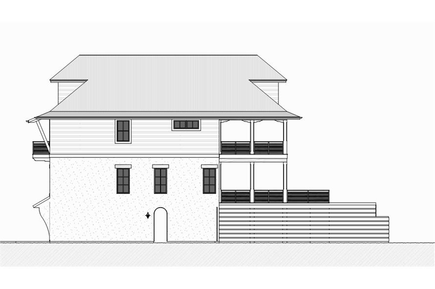 168-1117: Home Plan Right Elevation