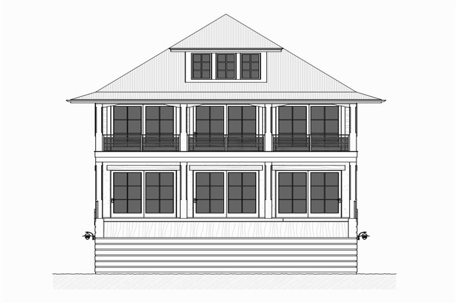 168-1117: Home Plan Rear Elevation
