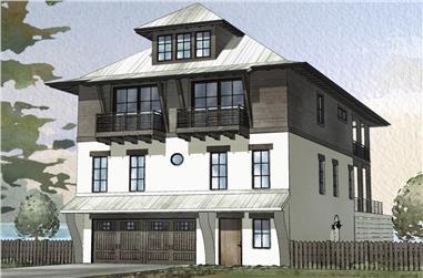 4-Bedroom, 2810 Sq Ft Coastal Home Plan - 168-1117 - Main Exterior