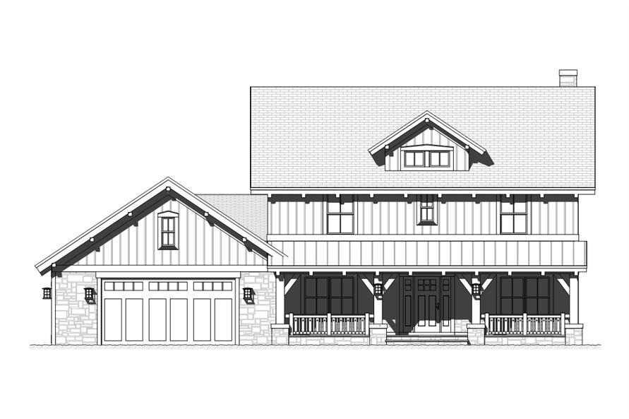 168-1118: Home Plan Front Elevation