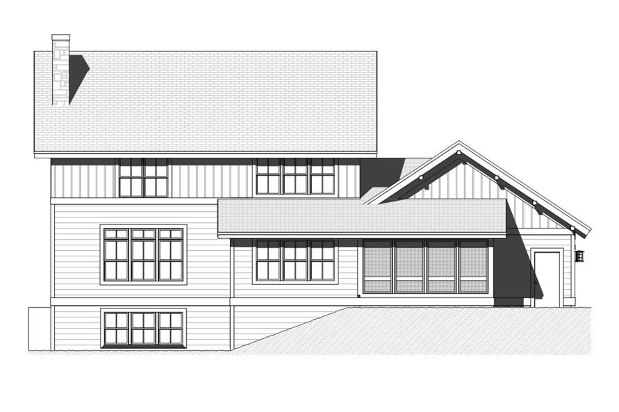 168-1118: Home Plan Rear Elevation