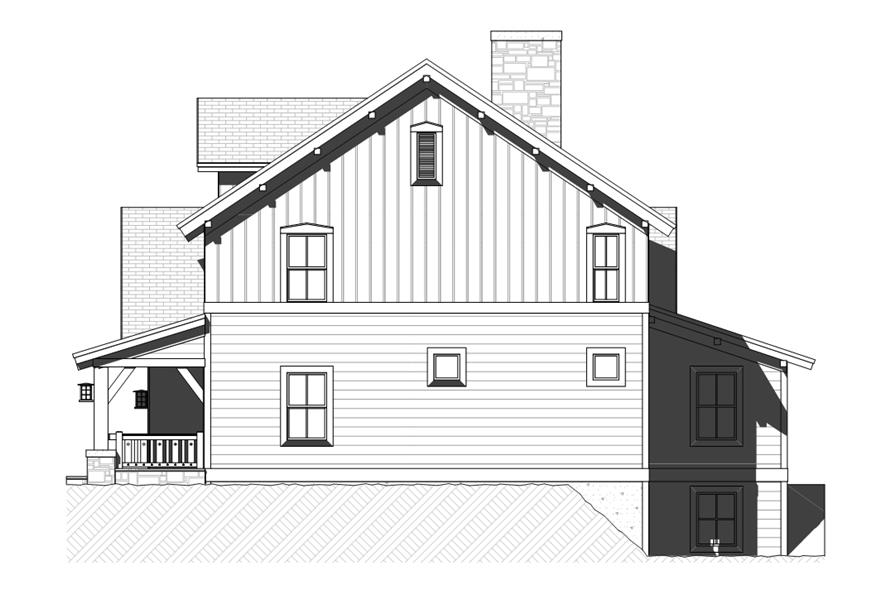 168-1118: Home Plan Right Elevation