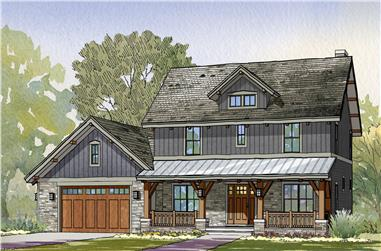 3-Bedroom, 2456 Sq Ft Craftsman House Plan - 168-1118 - Front Exterior