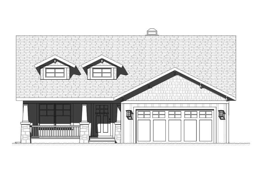 168-1119: Home Plan Front Elevation