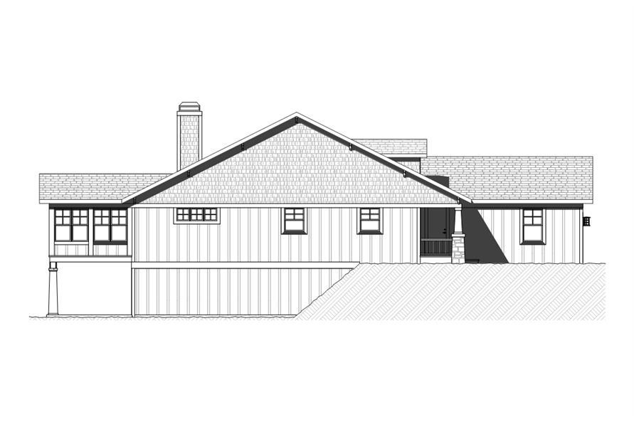 168-1119: Home Plan Left Elevation